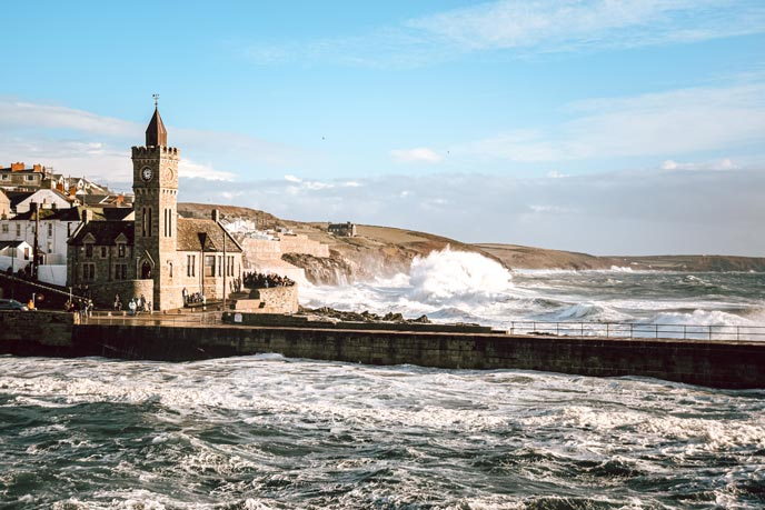 Storm rolling in at Porthleven