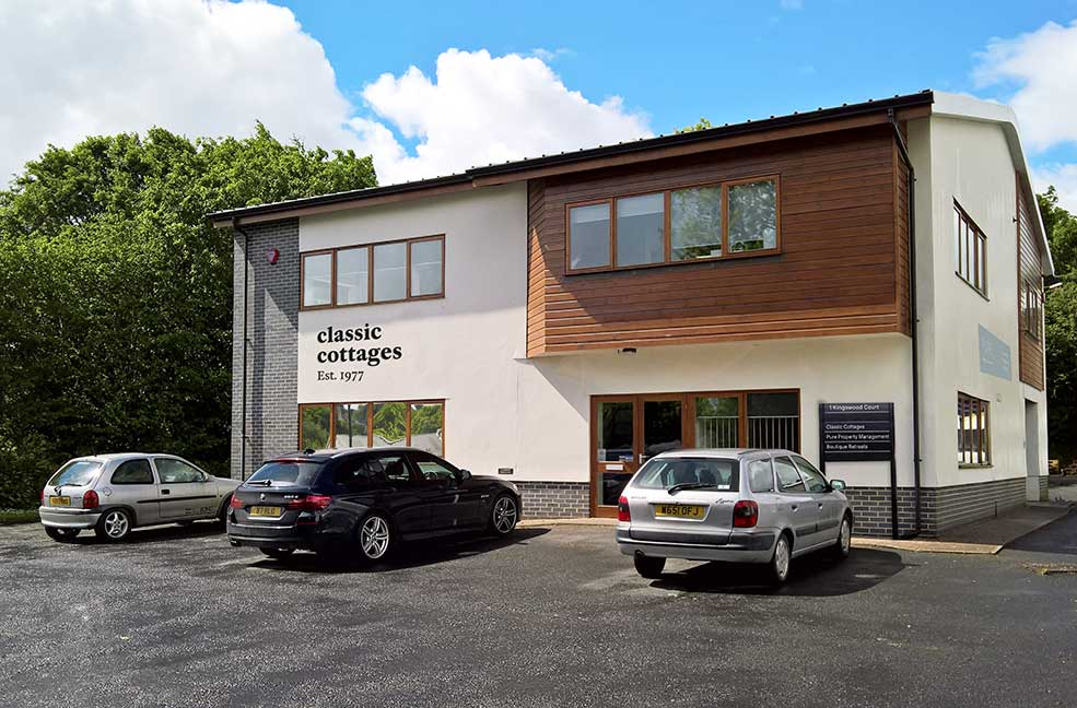 The new Classic Cottages office in South Brent, Devon.