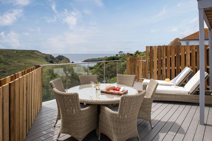 Balcony holiday cottage