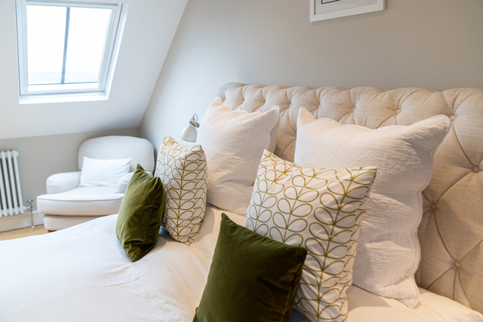 A comfy bed is crucial to make happy guests