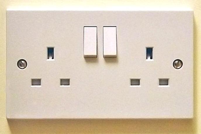 UK 13A double socket