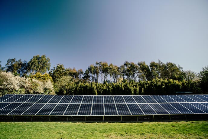 Solar panels linked up to a holiday let