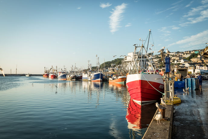 Newlyn Harbour, the major fishing harbour in Cornwall