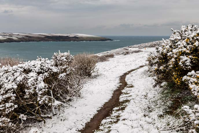 Winter wonderland, Newquay, Cornwall