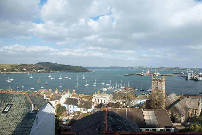 View of Falmouth harbour from 3 Thesis Place