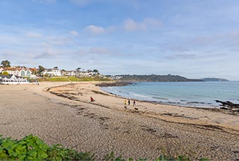 Gyllyngvase beach in Falmouth is stunning all year round