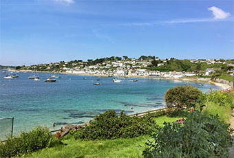 St Mawes bay in the sun