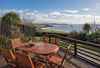 Dog friendly cottages in Devon with sea views