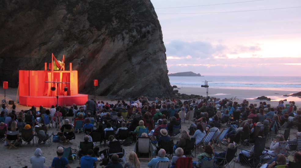 Theatre on the beach at Newquay
