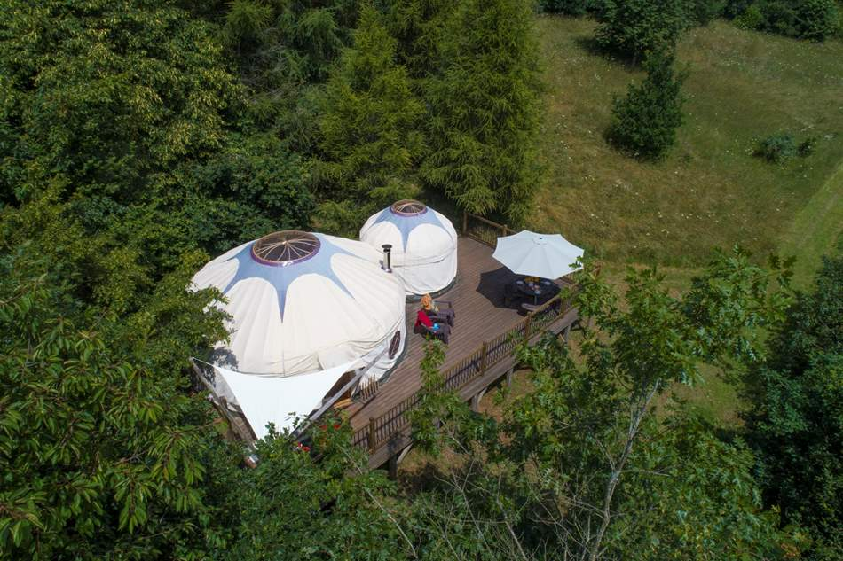 Go green and get closer to nature at this yurt in the heart of south Devon.