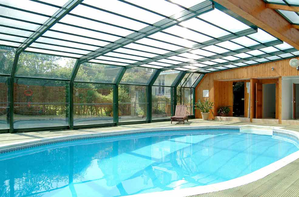 Ten cottages with indoor swimming pools - Inside swimming pool ...