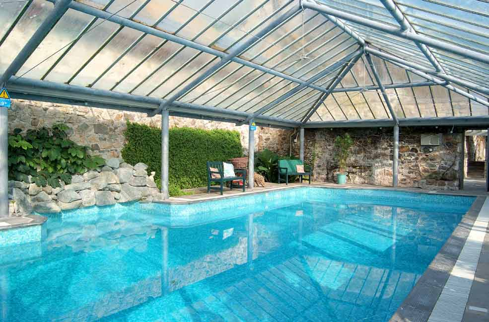 The Old Manor House has a magnificent pool house attached to the main building.