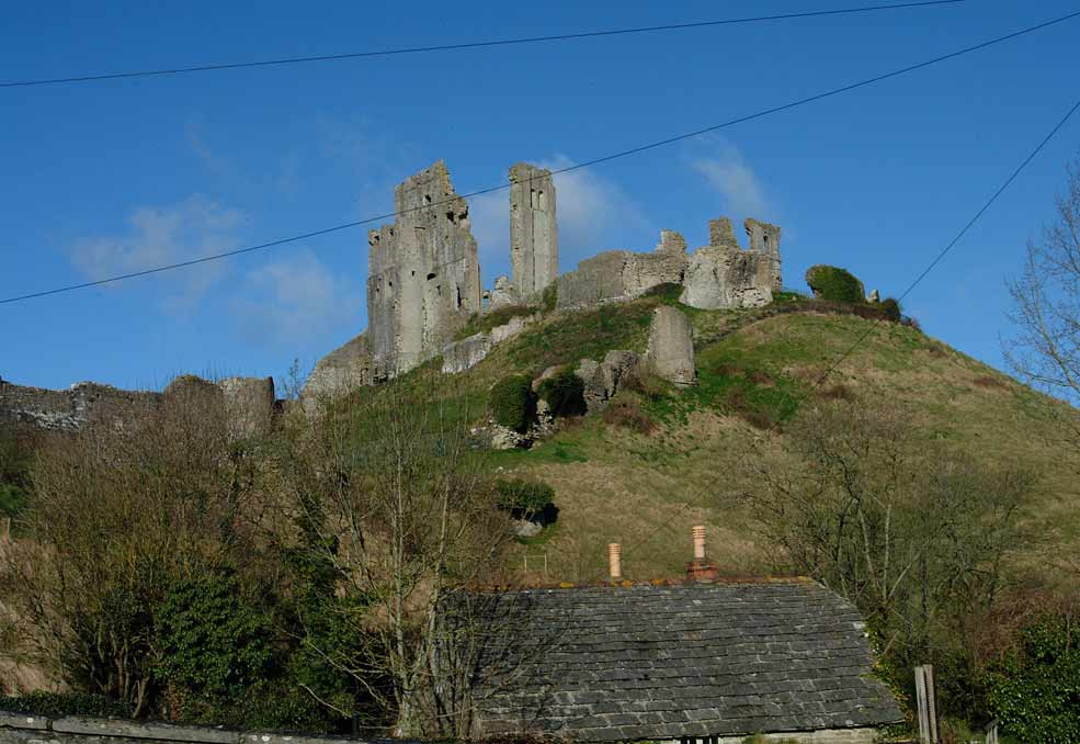 Corfe Castle at Easter