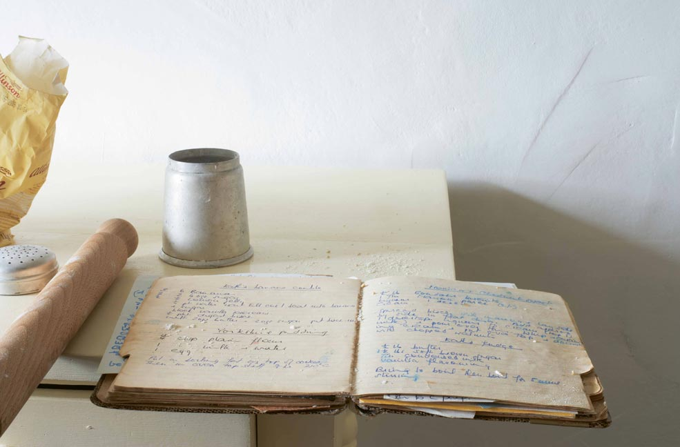 Hand written recipes