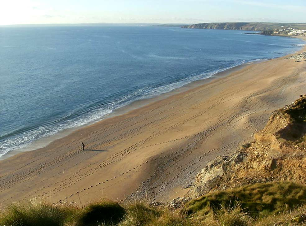 Footsteps in the sand near Porthleven