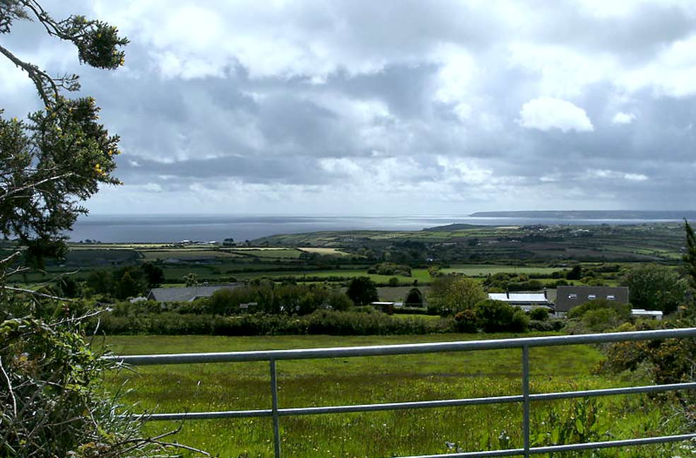 View from Tregonning Hill across Mounts Bay
