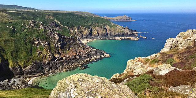 The view west over Zennor cliff's