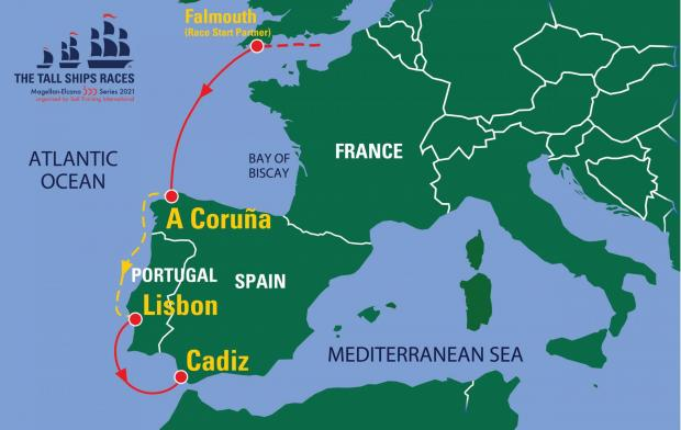 Tall Ships race map