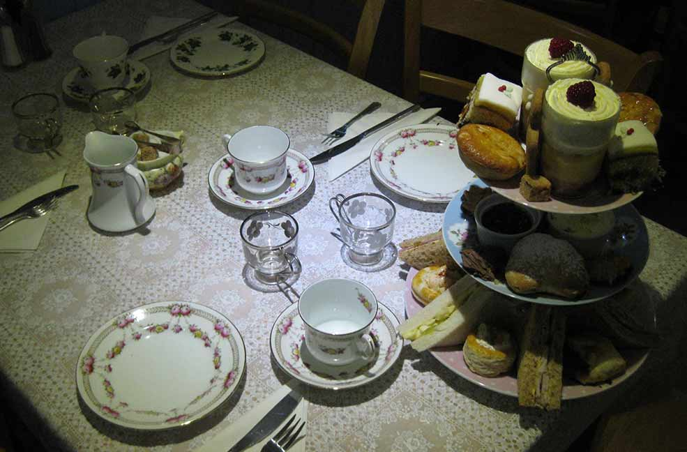 Enjoy a classic cream tea on the coast at Chrissy's Tearoom in Cornwall.