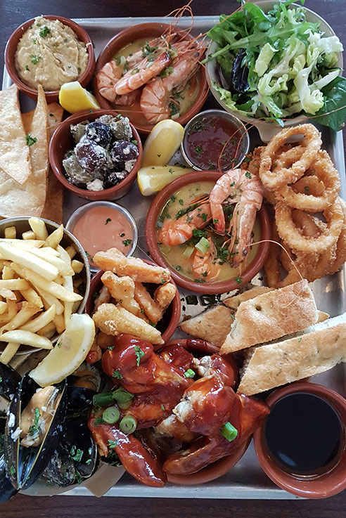 The seafood platter at The Shed easily feeds 2 people for a feat to remember.