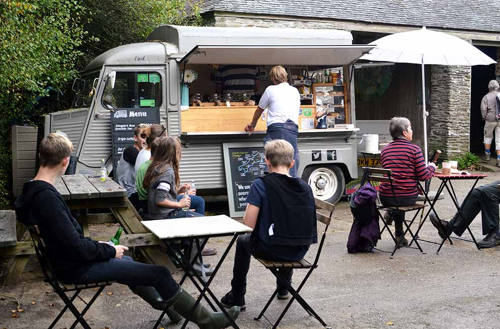The Thirstea Co. van called Earl on a lovely visit to the Roseland in Cornwall.