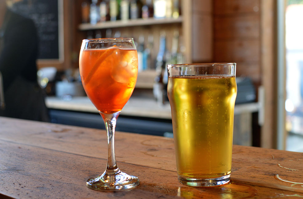 Aperol spritz and Cornish cider were the only way to enjoy this beautiful evening in the sunshine.