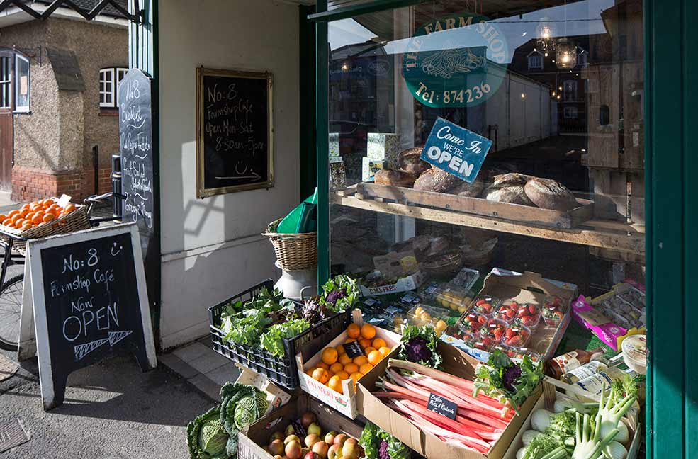 Lots of fresh local Isle of Wight produce is available to pick up at the farm shop below the cafe.