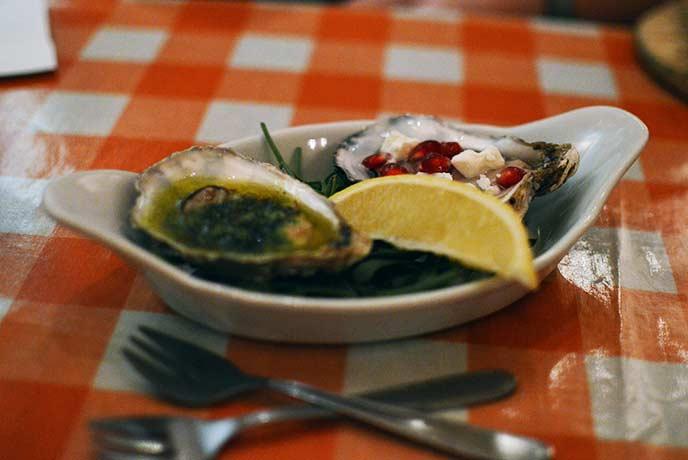 The oysters were a true Devon delicacy.