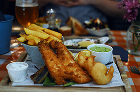 Seafood feast at the Oyster Shack in Bigbury