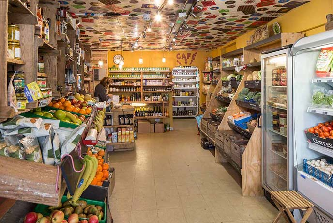 A quick pick at the inside of No 8 Farm shop in Bembridge. Filled to the rafters with fresh local produce.
