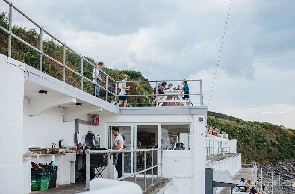 The new pop up grill from Woodfired Canteen is above Porthmeor West beach cafe in St Ives.