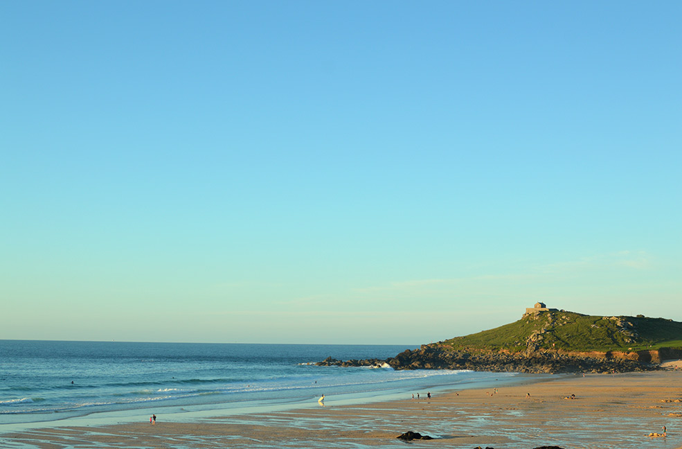Porthmeor beach in St Ives looks amazing in the summer sunshine.