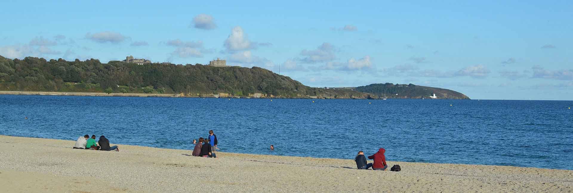 Gyllyngvase beach in Falmouth, Cornwall