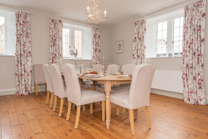 The dining room at Barton Manor