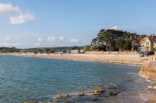 St Helens beach on the isle of wight
