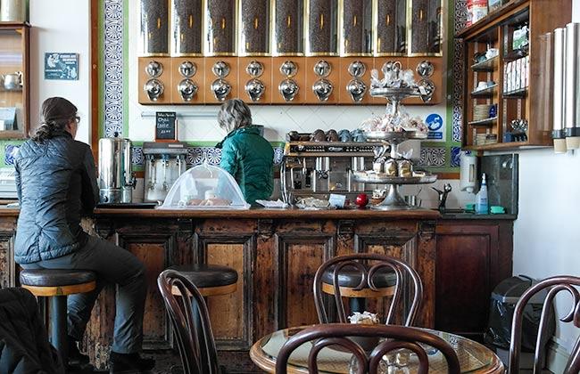 Enjoying a coffee in Ryde