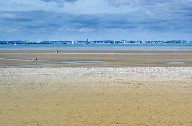 View from Ryde Beach to Portsmouth