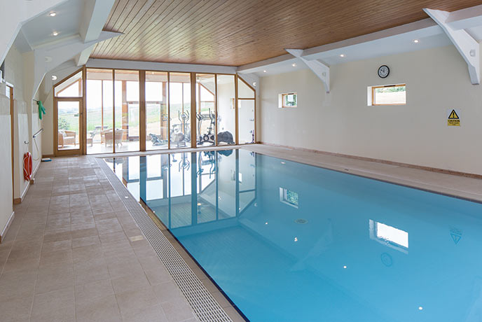 Aveton has a brilliant private pool attached to the holiday cottage. An easy answer to rainy days.