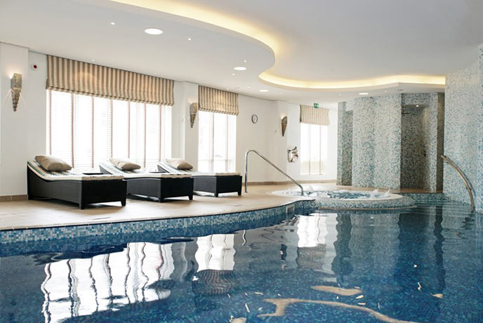 The beautiful shared pool at Dart Marina Health Spa
