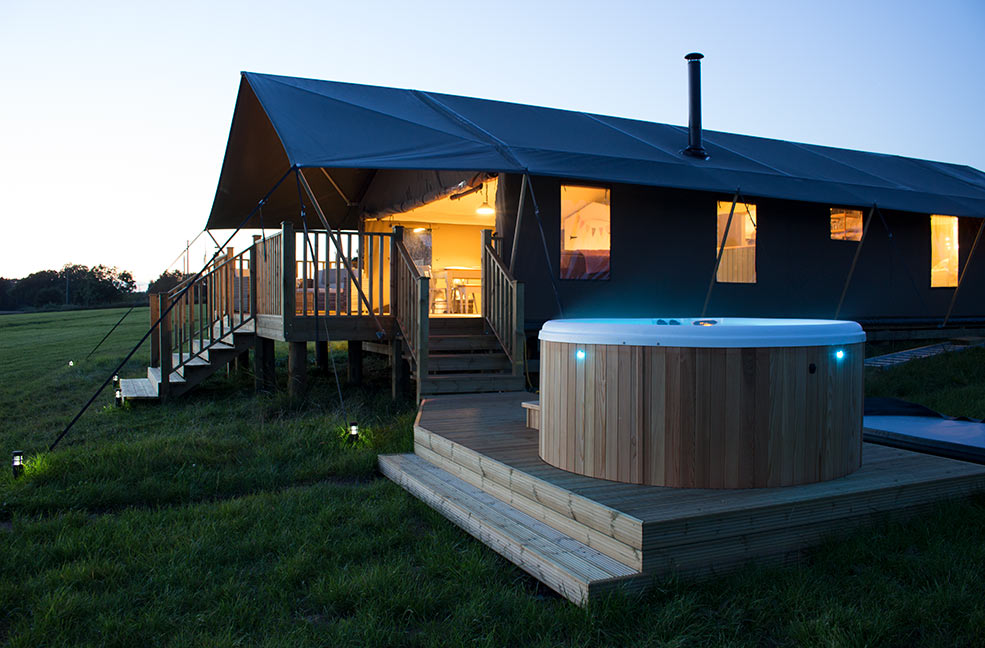Hop into the hot tub and ease your aching limbs after running after your wild children all day.