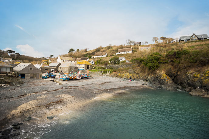 Cadgwith Cove fishing boats, Cornwall