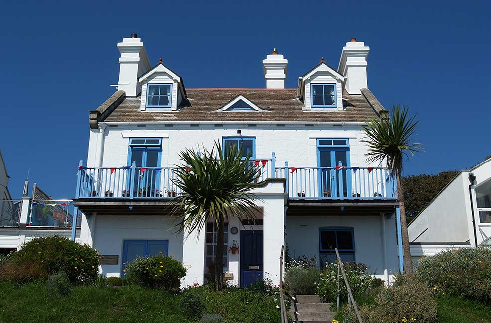 The Coastguards Station is in an enviable position on Pendennis point in Falmouth.