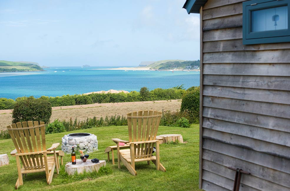 Looking over the Camel estuary, staying at Tregwelen Shepherds Hut means you can hop on to the coast path to Padstow or Wadebridge and get started on your Cornwall adventures.