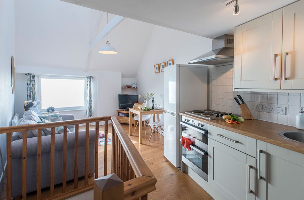 Cosy up with your other half in the simplistic interiors of the Nutshell, at the heart of Marazion.
