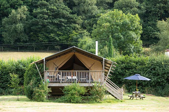 Fill your lungs with fresh air at the glamping getaway.