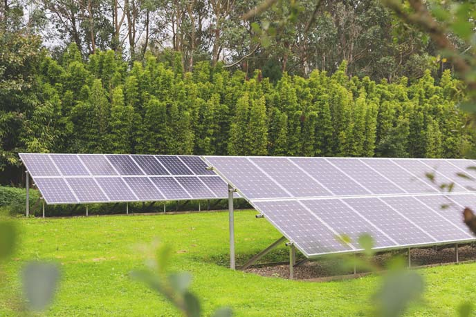 Solar panels at one of our eco properties