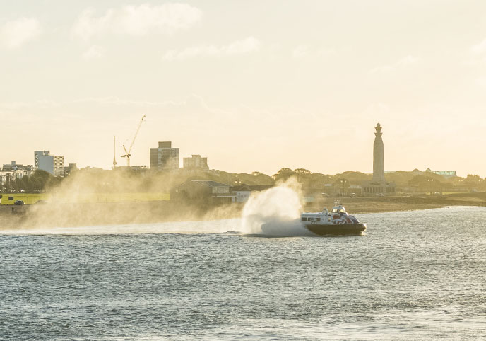 The isle of Wight Hovercraft