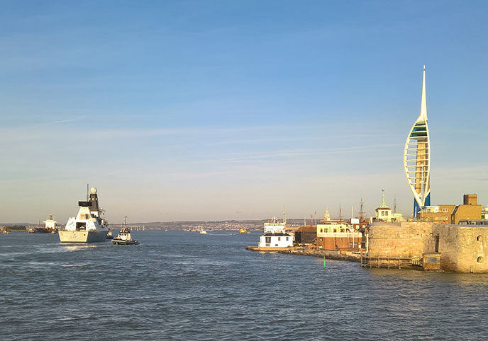 How easy is catching the ferry to the Isle of Wight?