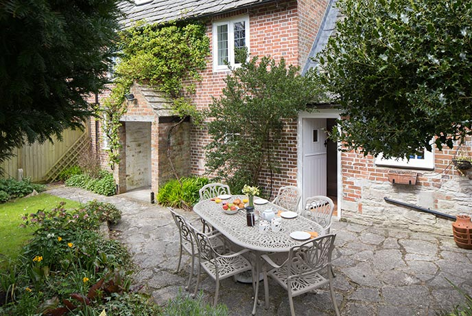 Brook Cottage is a classic chocolate box cottage.