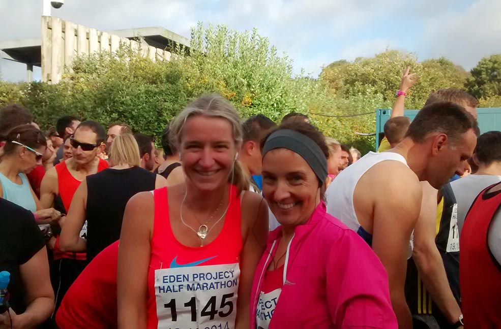 Paula and Louse, running partners